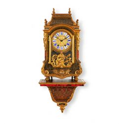 LOUIS XVI STYLE ORMOLU MOUNTED BOULLE ANTIQUE BRACKET CLOCK