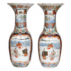 Vases - porcelain  Pair f antique Japanese Imari porcelain vases