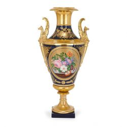 Empire period Paris porcelain antique painted vase